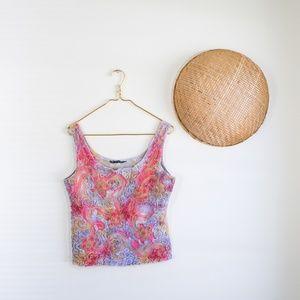 MEZON 90's vintage texture embroidered tie dye